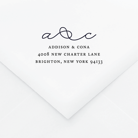 Knot Personalized Address Stamp