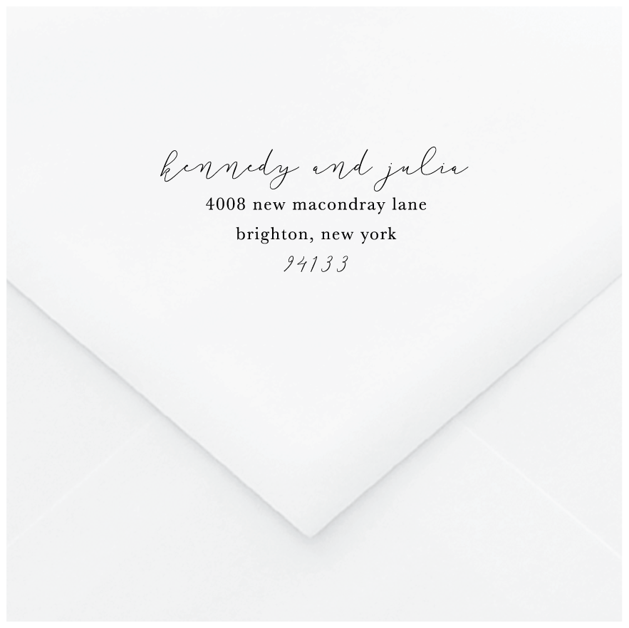 Literary Personalized Address Stamp