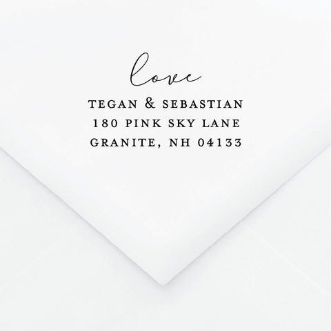 Romantic Personalized Address Stamp