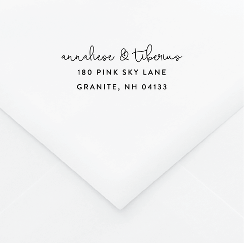 True Love Personalized Address Stamp