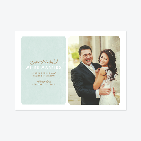 Art Wall Photo Elopement Announcement - One-Photo Elopement Announcement - Skipt Paper Co - 1