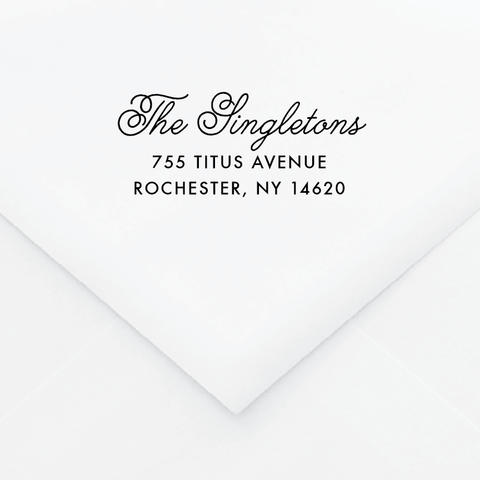 Art Wall Personalized Address Stamp - Custom Stamps - by Up Up Creative for Skipt Paper Co.