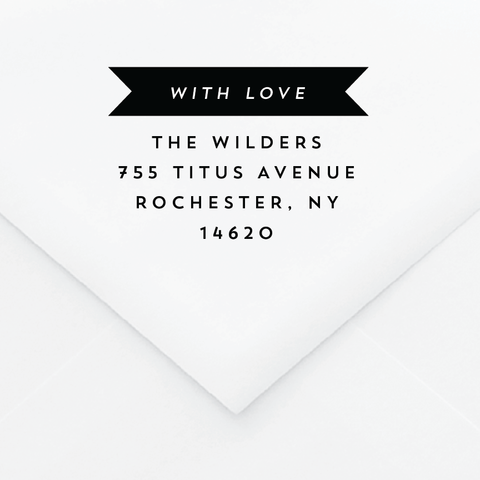 Neutra Personalized Address Stamp - Custom Stamps - by Skipt Paper Co for Skipt Paper Co.