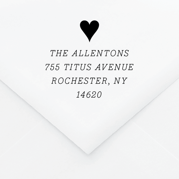 Widescreen Personalized Address Stamp - Custom Stamps - by Skipt Paper Co for Skipt Paper Co.