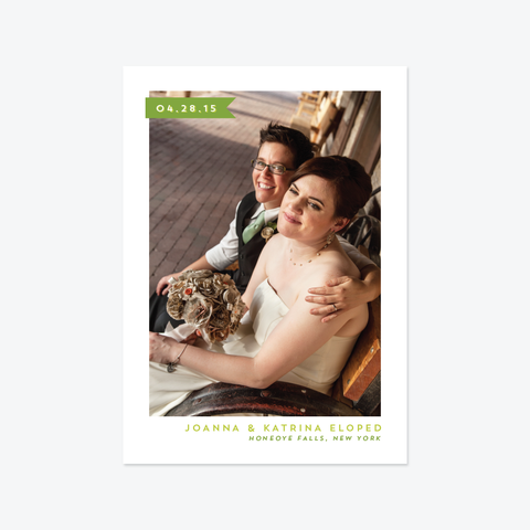 Neutra Photo Elopement Announcement - One-Photo Elopement Announcement - by Skipt Paper Co for Skipt Paper Co.