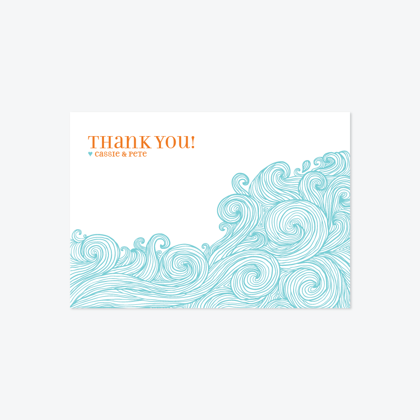 Ocean Waves Notecards - Notecards - by Up Up Creative for Skipt Paper Co.
