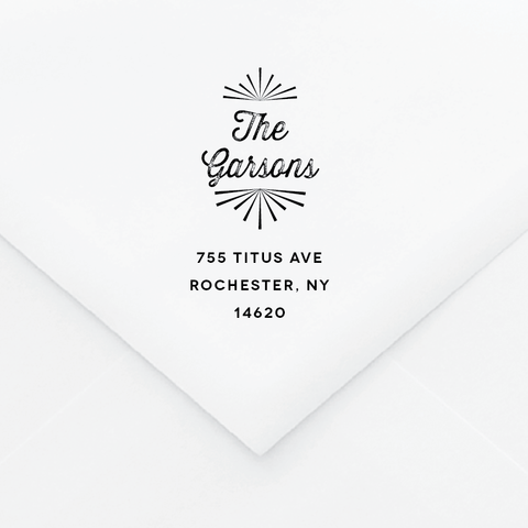 Playful Personalized Address Stamp - Custom Stamps - by Up Up Creative for Skipt Paper Co.