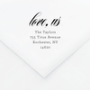 Tied the Knot Personalized Address Stamp - Custom Stamps - by Skipt Paper Co for Skipt Paper Co.
