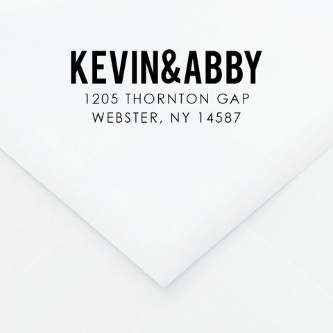 Type I Personalized Address Stamp - Custom Stamps - by Skipt Paper Co for Skipt Paper Co.