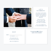 We Heart Did Photo Elopement Announcement - One-Photo Elopement Announcement - by Skipt Paper Co for Skipt Paper Co.