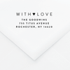 We Heart Did Personalized Address Stamp - Custom Stamps - by Skipt Paper Co for Skipt Paper Co.