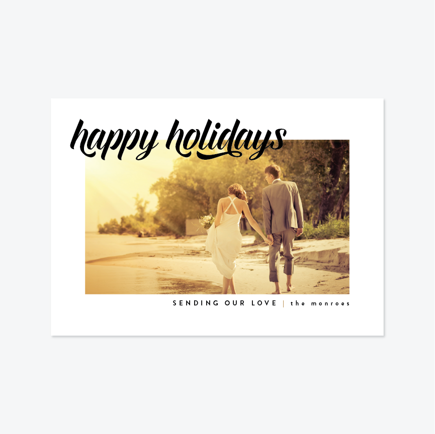 Cinta Holiday Marriage Announcement - Holiday Photo Card - by Up Up Creative for Skipt Paper Co.