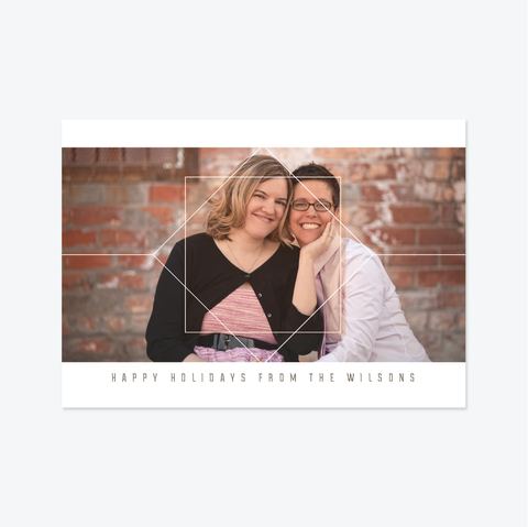 Geo Holiday Marriage Announcement - Holiday Photo Card - Skipt Paper Co