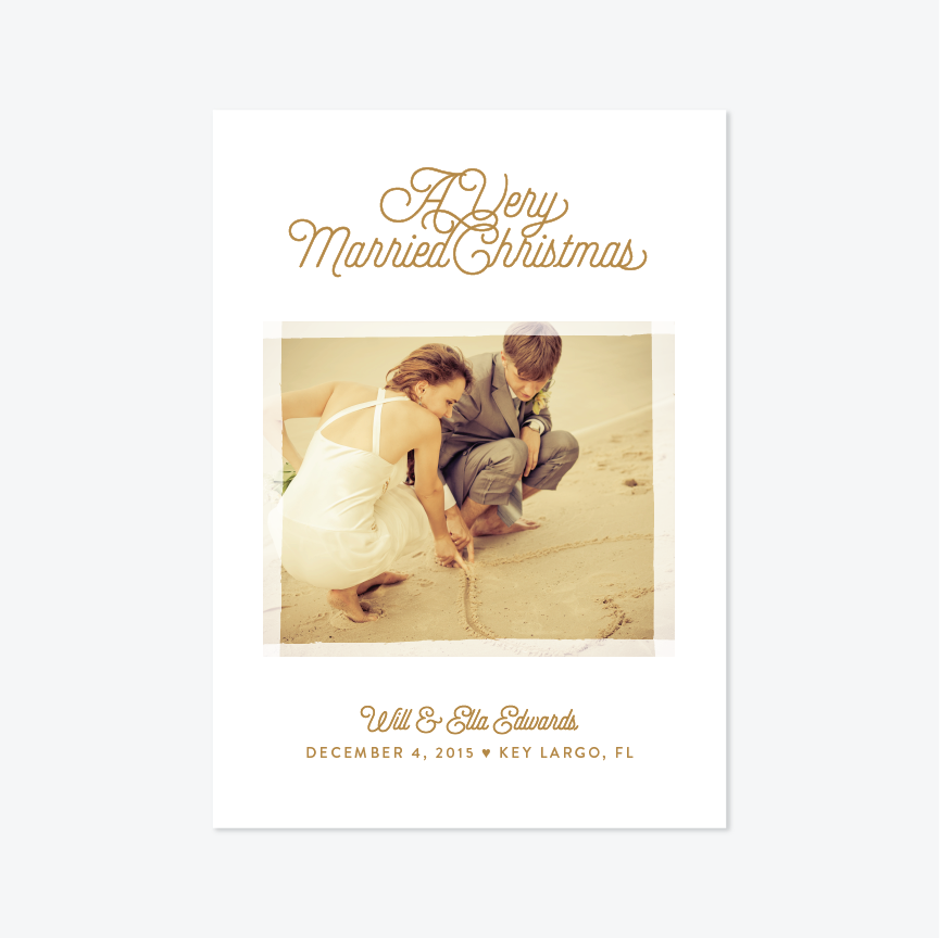 Very Married Christmas Holiday Marriage Announcement - Holiday Photo Card - by Up Up Creative for Skipt Paper Co.