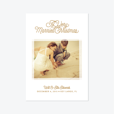 Very Married Christmas Holiday Marriage Announcement - Holiday Photo Card - Skipt Paper Co