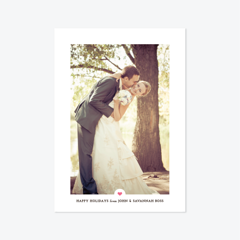 Artful Holiday Marriage Announcement - Holiday Photo Card - by Skipt Paper Co for Skipt Paper Co.