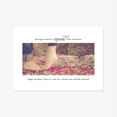 Gallery Wall Holiday Marriage Announcement - Holiday Photo Card - Skipt Paper Co
