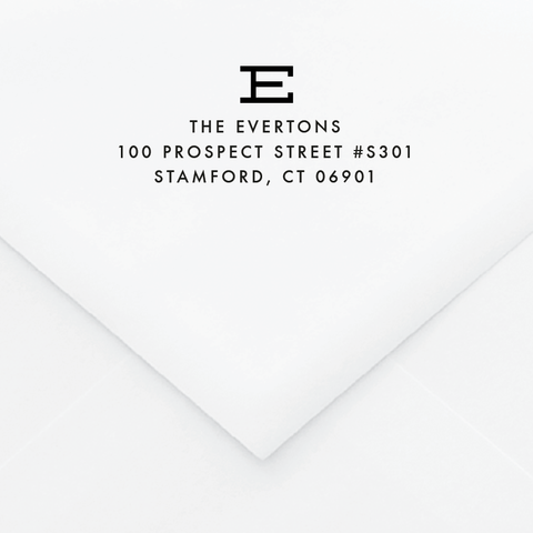 Askant Personalized Address Stamp - Custom Stamps - by Skipt Paper Co for Skipt Paper Co.