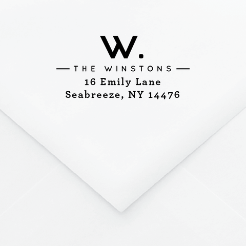 Letter Personalized Address Stamp - Custom Stamps - by Up Up Creative for Skipt Paper Co.