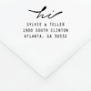 Organic Personalized Address Stamp - Custom Stamps - by Skipt Paper Co for Skipt Paper Co.