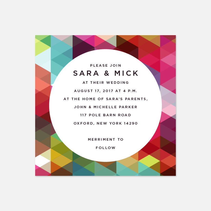 Abstract Geometry Wedding Invitation Suite - Invitation - by Up Up Creative for Skipt Paper Co.