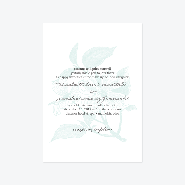 Modern Engraving Wedding Invitation Suite - Invitation - by Skipt Paper Co for Skipt Paper Co.