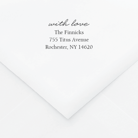 Modern Engraving Personalized Address Stamp