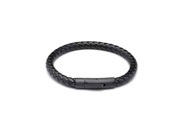 Agravain Black Leather Band-TheNobleCircle