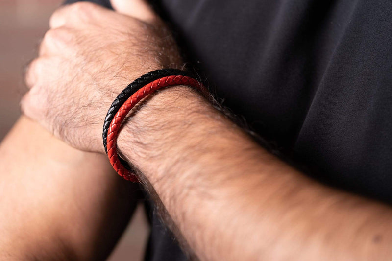 Agravain Red Leather Band-TheNobleCircle