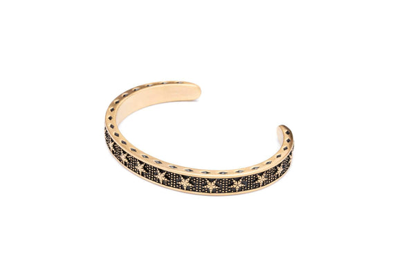 The Midnight Gold Star Cuff-TheNobleCircle