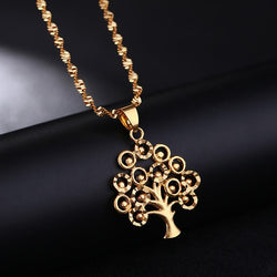 24k Gold Tree Of Life Necklace