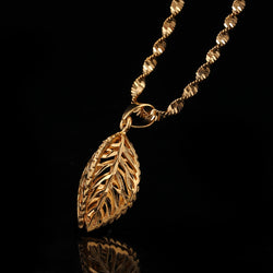24k Gold Leaf Necklace