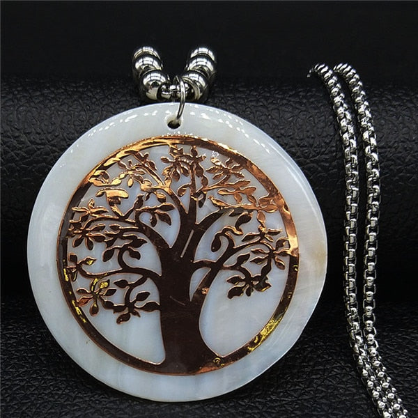 Opal Tree of Life Necklace