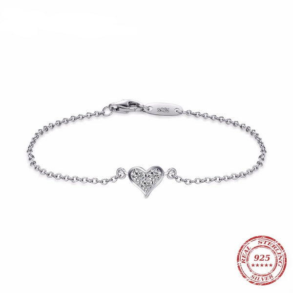 Chained Heart Bracelet