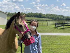 Face Masks and Grazing Muzzles, a PSA for People and Ponies