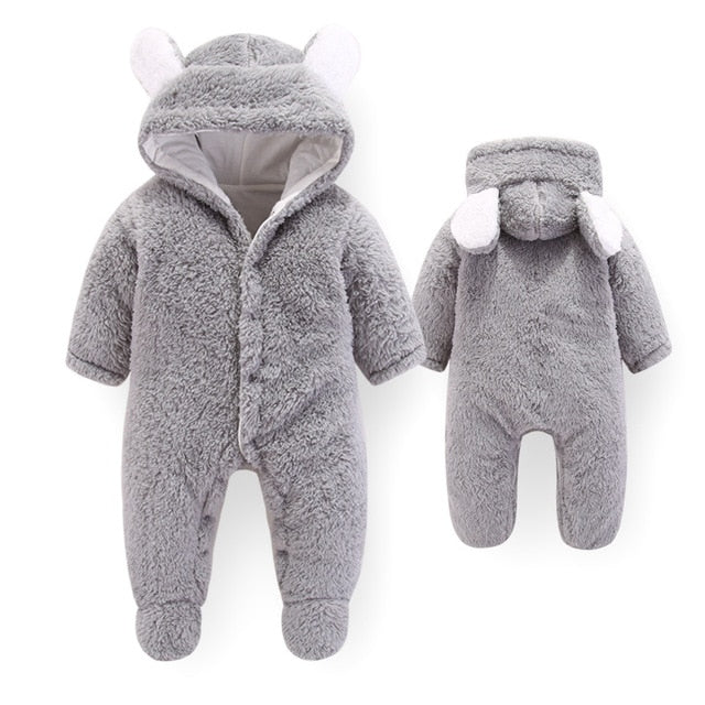 Adorable Winter Wool Rompers For Infants (3, 6, 9 and 12-month)