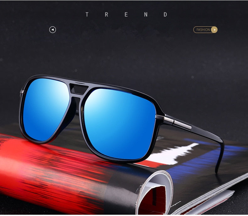 Men Polarized Oversized Mirror Driving Sun Glasses