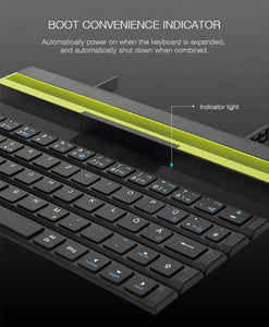 Foldable Wireless Bluetooth 3.0 Keyboard (IOS,Android, & Windows)