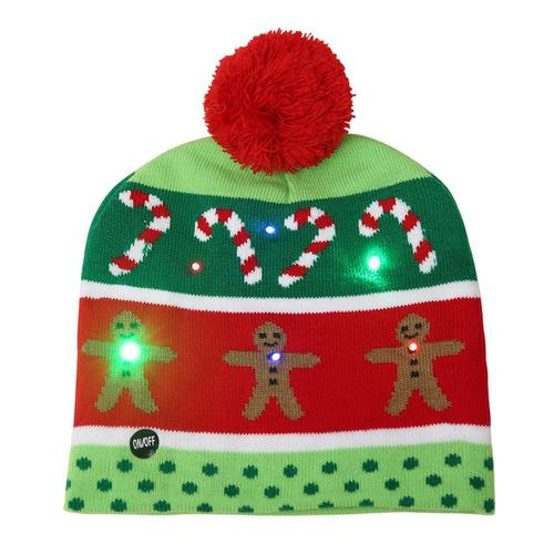 LED Christmas Santa Beanie Hat
