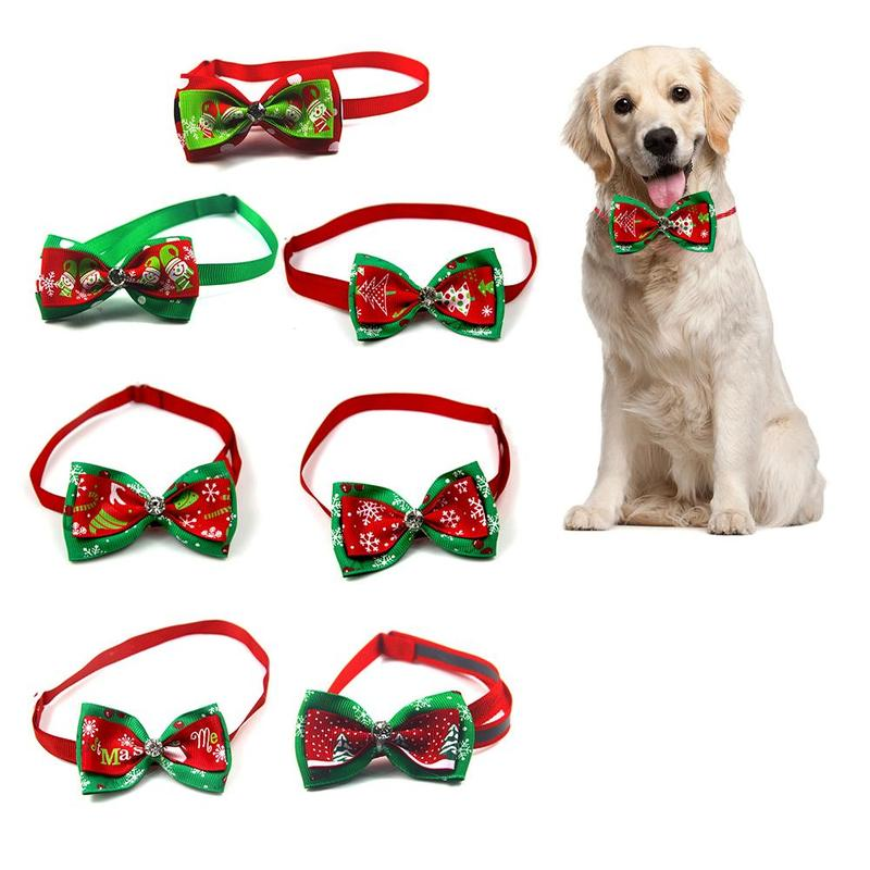 Holiday Adjustable Bow Tie Collar