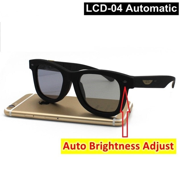 LCD Adjustable Polarized Sunglasses (Adjust To Level Of Brightness)