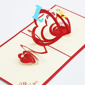 3D Pop UP Cards For Valentines Day Or For Any Special Occasion
