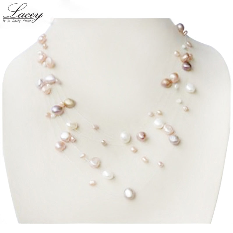 Natural Freshwater Mother of Pearl Necklace