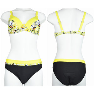 Push up Patchwork Bikini Swimsuits