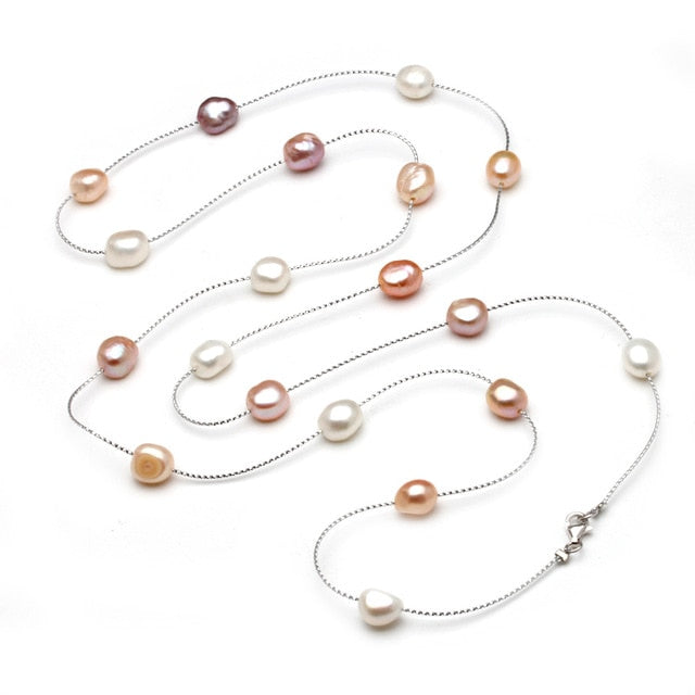 Freshwater Multi-layer Long Pearl Necklace