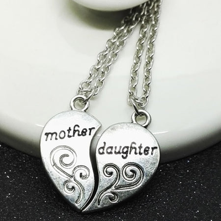 Mother and Daughter Heart Necklace - 2 Loving Hearts Are One 💕💕💕