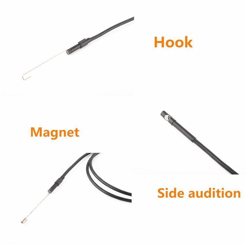 2M, 1M, 5.5mm, & 7mm Endoscope Flexible Waterproof Camera and Inspection Bore-Scope