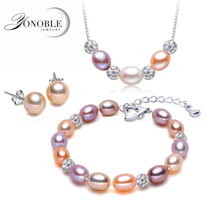 Freshwater Wedding Pearl w/925 Sterling Silver Set
