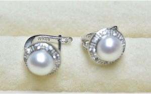 New Vintage Style Natural Freshwater Pearl and 925 Sterling Silver Stud Earring