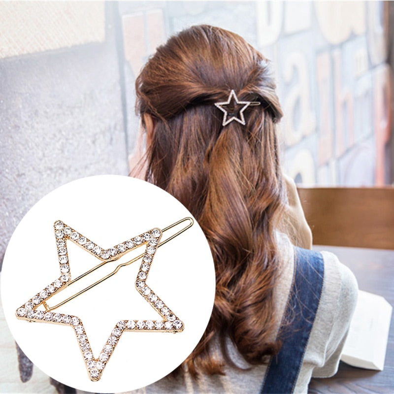 Round Elegant Luxury Rhinestone Hair Clip Accessories